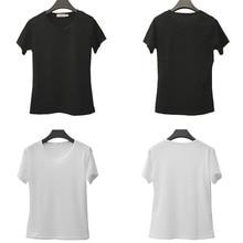 Short-Sleeve Women T-shirts Solid Color Female T Shirt Casual Harajuku Woman Tshirts Summer Tees Tops S-XXL