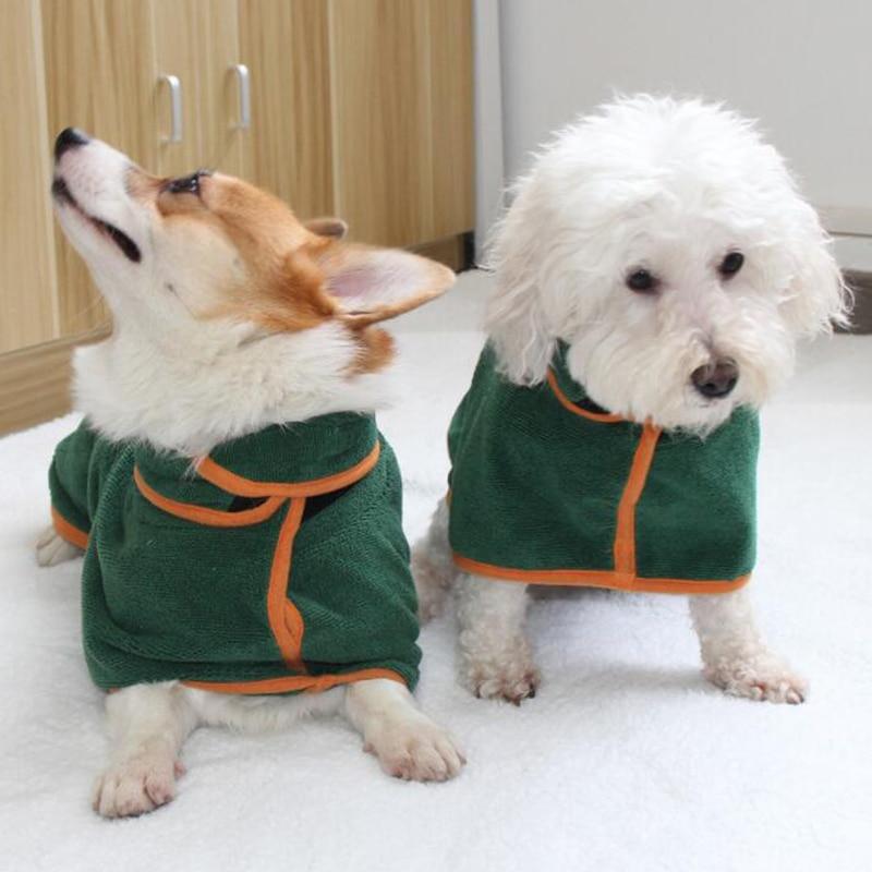 Pet Towel Super Absorbent Dog Bathrobe Superfine Fiber Towel Quick Dry Cat Bath Towel Dog Bath Warm Clothes Quickly Drying Towel