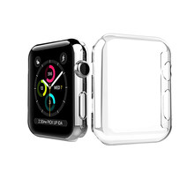 Para iWatch 3 iwatch3 iwatch 4 iwatch4 38mm 42mm 40mm 44mm TPU claro y suave funda protectora de pantalla completa Apple Watch Series 3 4(China)