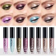 Qibest líquido glitter sombra vara 8 cores olhos maquiagem sombra shimmer sombra brilho alto pigmento olhos cosméticos