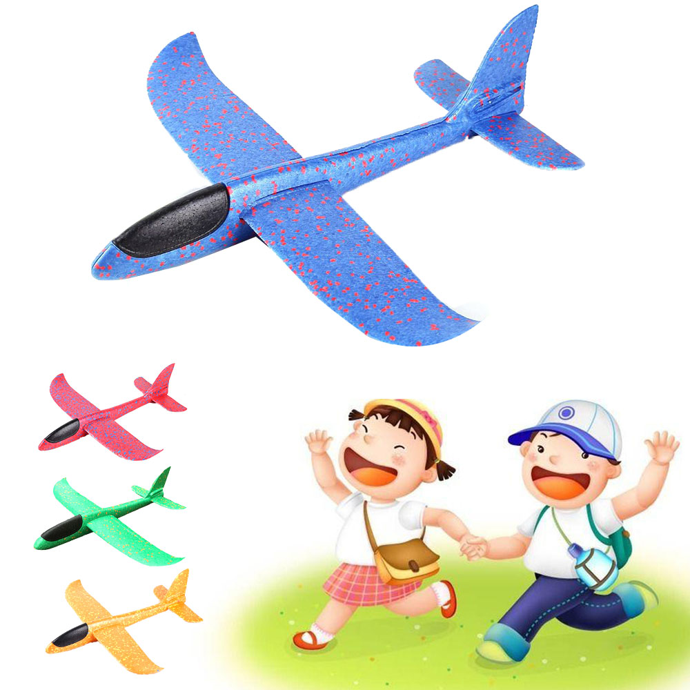 48cm DIY flying plane Hand Throw Flying Glider airplanes Toys For Children Foam Aeroplane Model Party Outdoor Fillers Glider