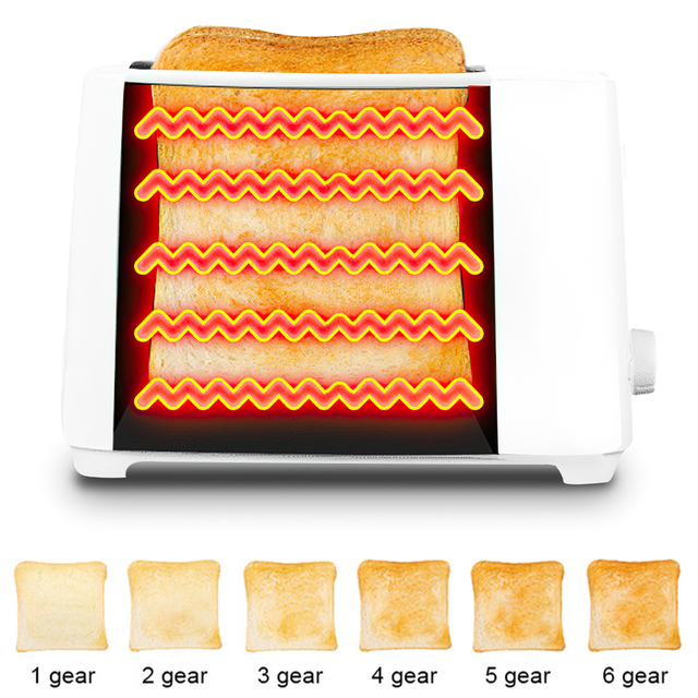 DIOZO 650W Automatic Toaster 2 Breakfast Bread Maker Baking Cooking Tool Fast Bread Toaster Household Breakfast Maker 2