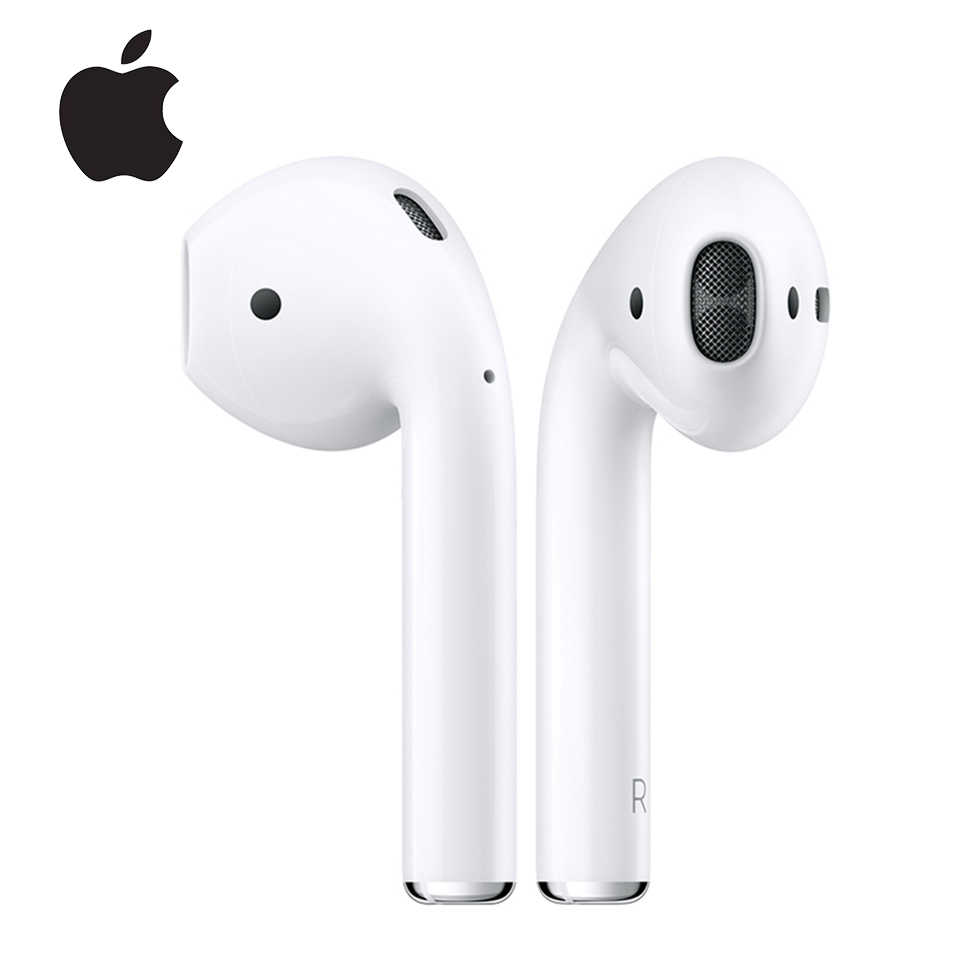 Apple AirPods 1st Asli Nirkabel Bluetooth Earphone Nada Terhubung Siri dengan Pengisian Case untuk Iphone Ipad Mac Apple Watch