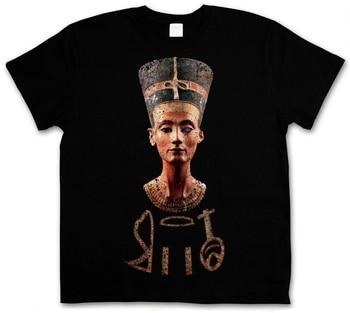 2018 última moda NEFERTITI camiseta-Egytian Pharao Nofretete Echnaton Egipto momia set de talla grande ropa Casual