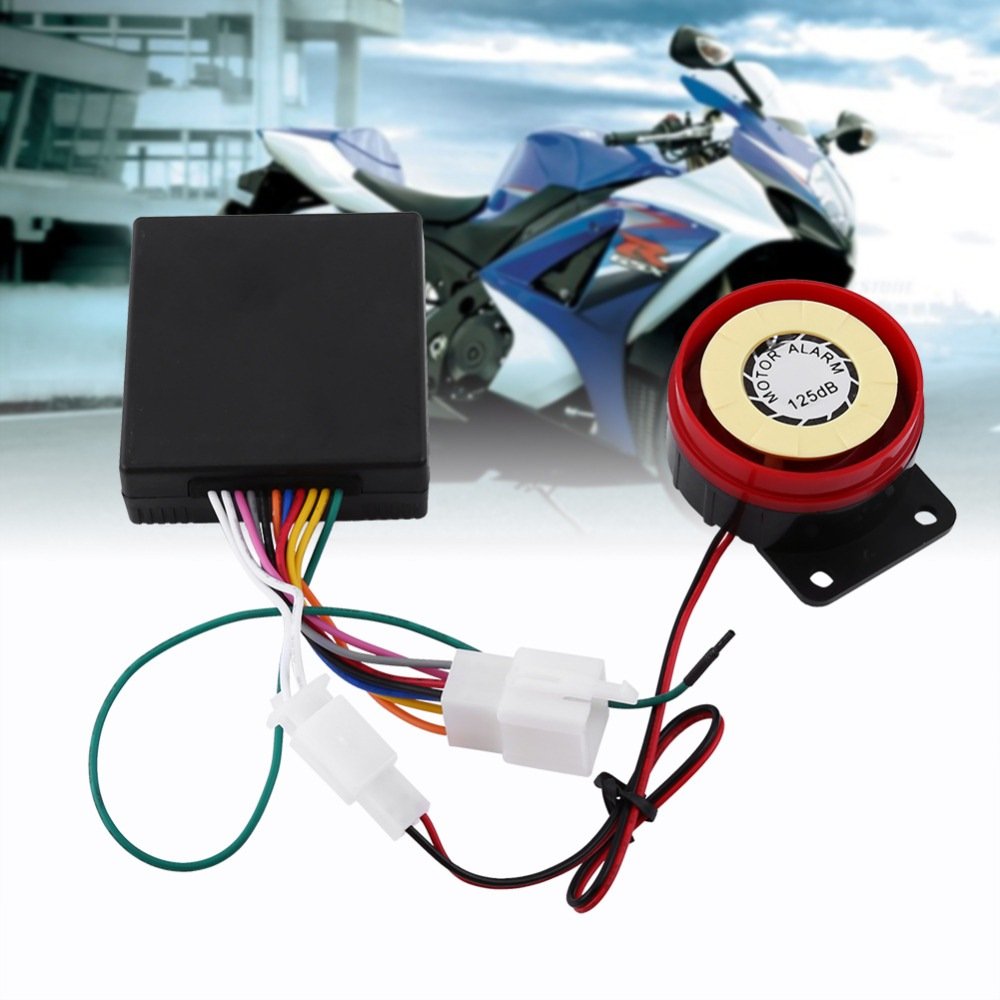 12V Motorcycle Alarm System Remote Control Vibration Alarm Theft Protection Scooter Motor Security Alarm Engine Start