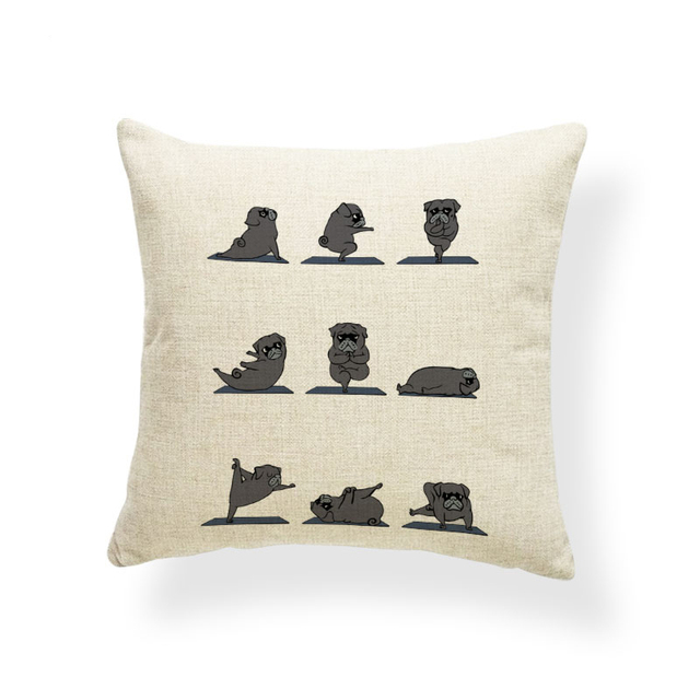 Animal Yoga Cushion Covers 5