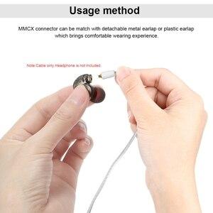 Image 5 - Trn cobre e prata misturado atualizado cabo 2.5/3.5mm equilibrado cabo com conector mmcx/2pin para trn v80 v20 v10 im1 im2 x6 tfz