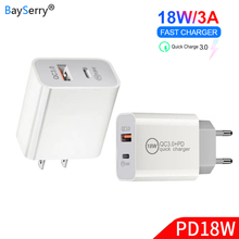 Charger Usb Pd Type-C-Power Huawei Travel 2-Ports iPhone 6 18W 3A for 6s SE 7/7-plus/8