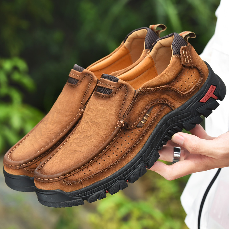 Men Casual Shoes Sneakers 2019 New High Quality Vintage 100% Genuine Leather Shoes Men Cow Leather Flats Leather Shoes Men-in Men's Casual Shoes from Shoes