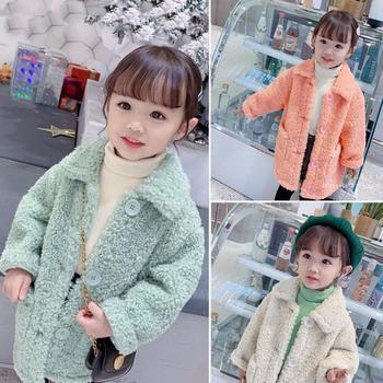 Autumn Winter Girls Jacket Thick Warm Coat Children Cotton Fur Kids Baby Outerwear Clothes 2021