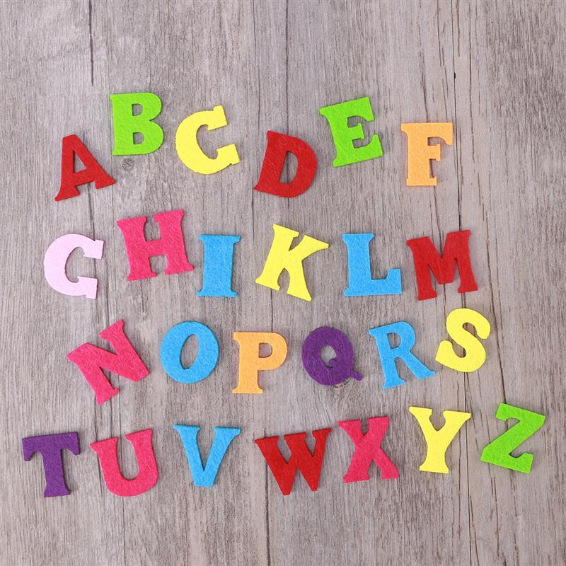 50pcs Kindergarten Sewing Cloth Felts Craft Non-woven Colorful Letters Handmade