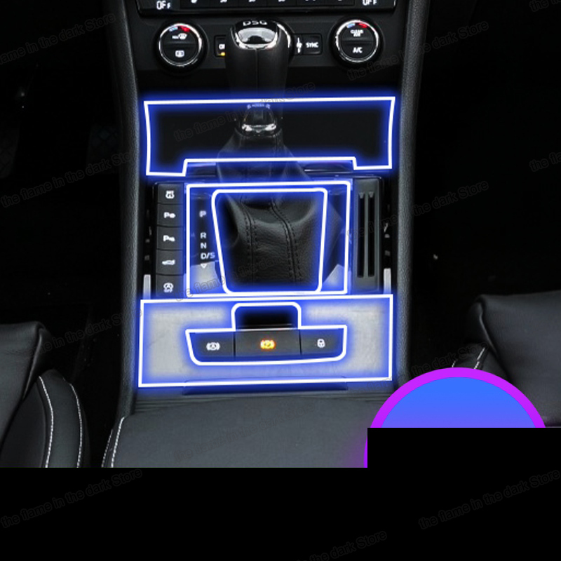 Lsrtw2017 TPU Car Interior Gear Film Central Control Sticker For Skoda Superb 2018 2019 2020 2016 2017 Anti-scratch