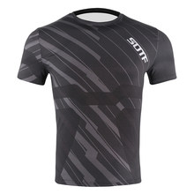 Sotf Mannen Zwarte Geometrie Ademend Vechten Boksen Mma Jerseys Muay Thai Shirt Compressie Strakke Rashguard Jiu Jitsu Sweatshirt