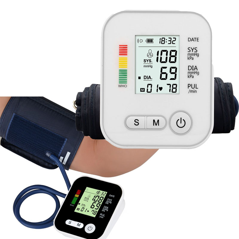 Automatic Arm Blood Pressure Monitor BP Sphygmomanometer Pressure Gauge Meter Tonometer Machine For Measuring Arterial Pressure