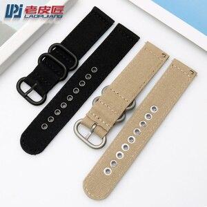 "Image 4 - Laopijiang ניילון שעונים רצועות 18mm 20mm 22mm 24mm נאט""ו זולו רצועת עבה בד רצועת השעון ספורט מהיר שחרור בר להקת שעון"