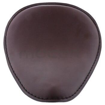 Motorcycle Black Leather Spring Solo Driver Seat Cushion  for Harley Cruise Custom Universal Fits For Yamaha Honda Suzuki