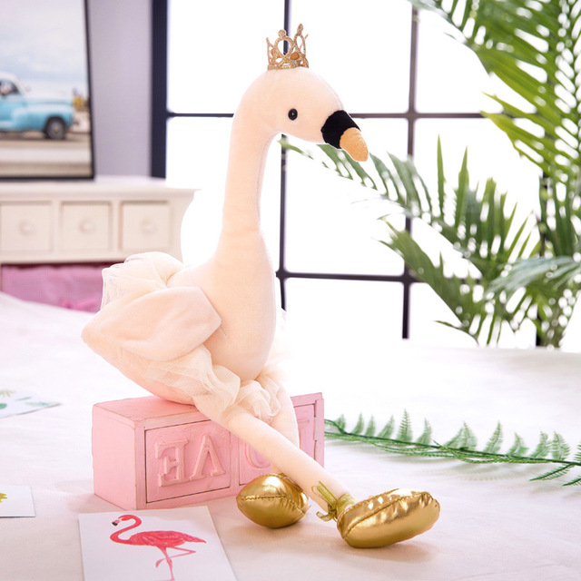 ?3 colors?35 cm Creative Ballet Swan Plush Toy Doll Dance Dress Couple Flamingo Wedding Sprinkle Doll Girlfriend Birthday Gift