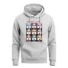 Funny Star Wars Expression Hoodies Men Today I Feel Angry Happy Sad Printed Movie Sweatshirts 2019 Winter Warm Fleece Hoody(China)