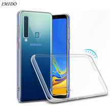 купить Transparent TPU Case For Samsung A5 A7 A8 A8 Plus A9 2018 Soft Silicone Case for Galaxy A5 A7 A8 A8 + A9 2018 Protective Cover дешево