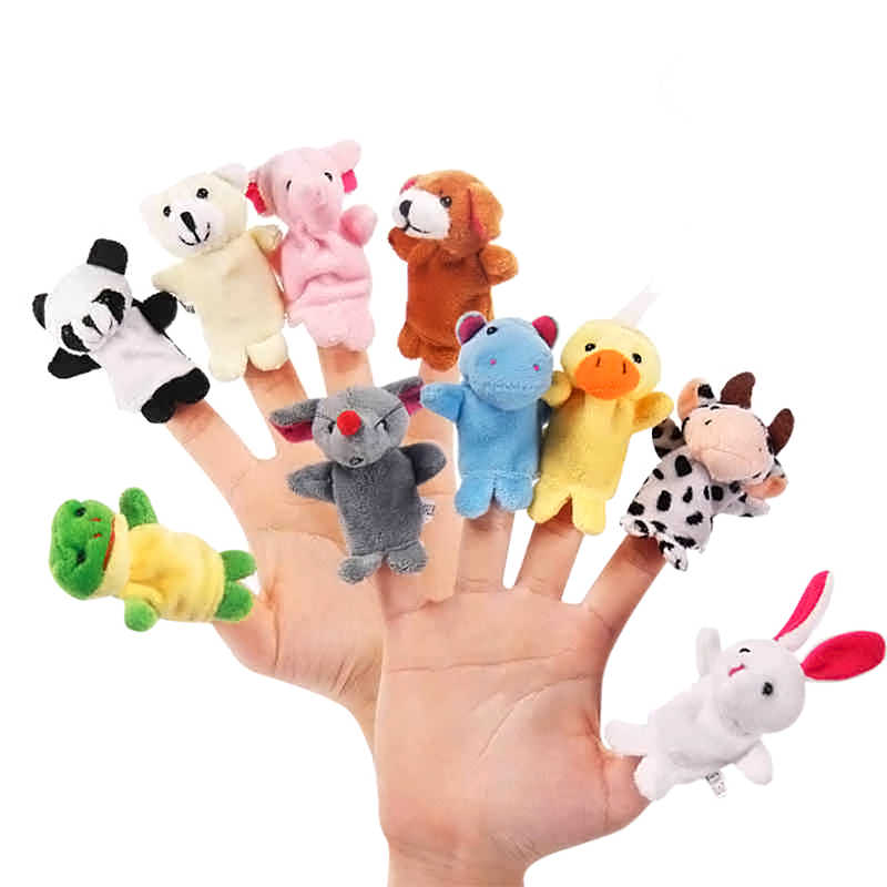 10 pièces/ensemble dessin animé Animal doigt marionnette bébé jouets en peluche pour enfants beaux enfants jouets en peluche bébé cadeau pour les enfants