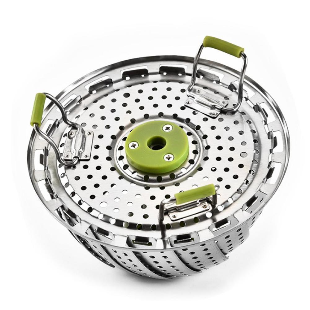 Folding Steamer Basket Water Filter Tray Steaming Rack For Veggie Fish Seafood Cooking 9 Inch
