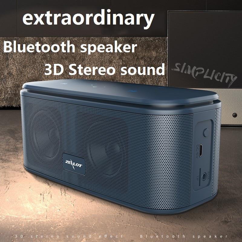 ZEALOT S25 Touch Control Speaker Wireless Bluetooth Speaker Simple Extraordinary 3D Stereo HIFI Sound Box Music Centre Ornament