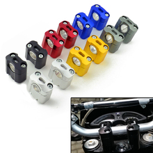 2 Pieces CNC 22mm 28mm Off road Motorcycle Bar Clamps Handlebar risers Adapter for 7/8″ 1-1/8 Pit Dirt motorbike