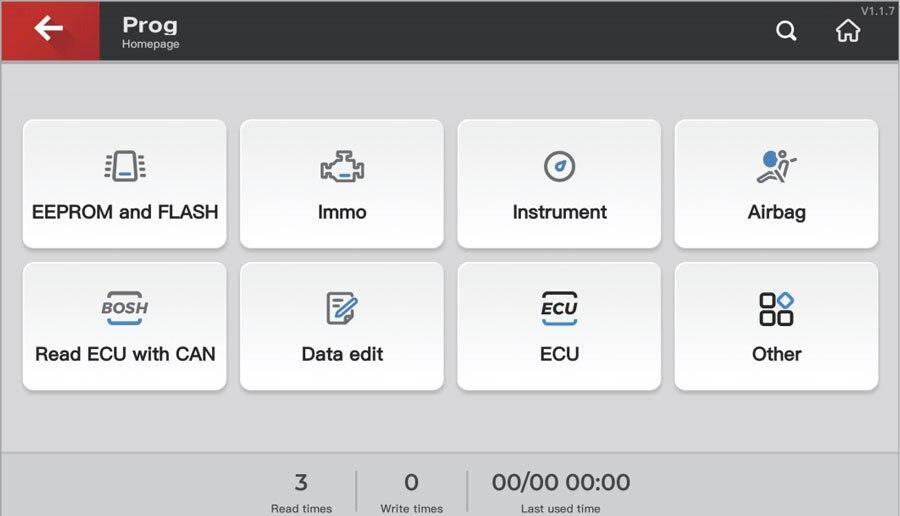key tool plus Prog Function
