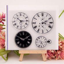 Stamp-Set Seals Clock Diy Scrapbooking Clear Transparent Round Silicone Decoration