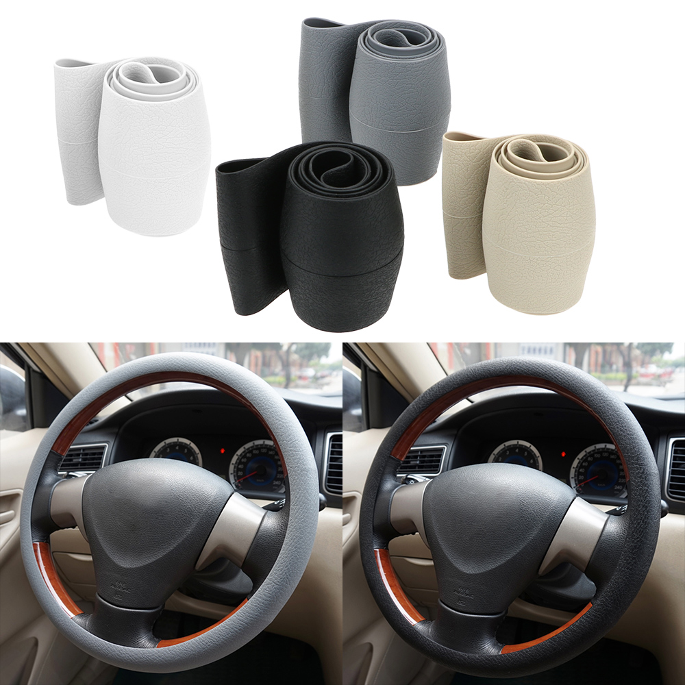LEEPEE Car Steering Covers Interior Accessories Car-styling Anti Slip Car Steering Wheel Cover Elastic 38cm Silicone Universal