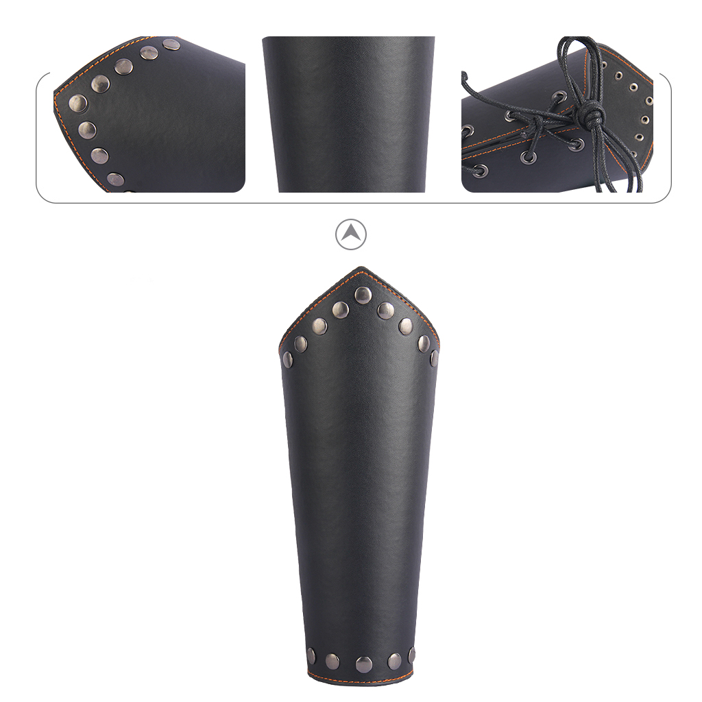 Leather Gauntlet Unisex Arm Guard Medieval Bracer Costume Props