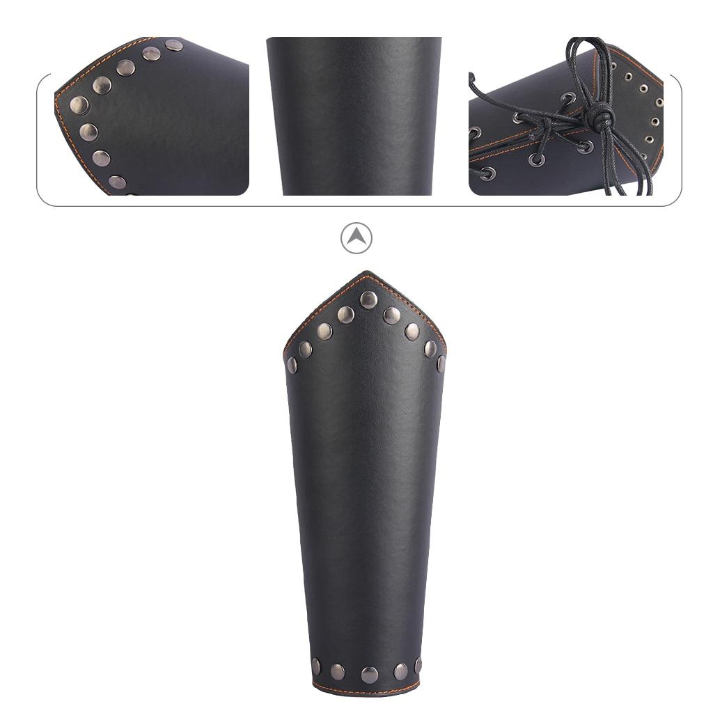 Leather Gauntlet Unisex Arm Guard Medieval Bracer Costume Props