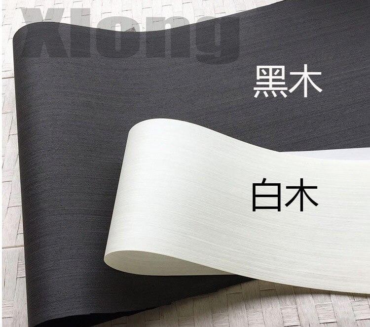 3Pieces/Lot L:2.5Meters Width:55cm Thickness:0.25mm Ink Black Wood Veneer Model Decorative Veneer
