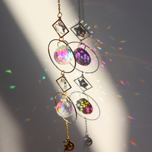 Wind-Chime Pendant Crystal Hanging-Drop Sun-Suncatcher-Plated Star-Moon Garden Colorful