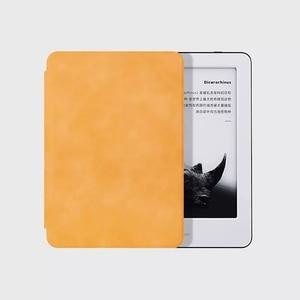 Image 4 - Youpin MoAn Schutzhülle Für Xiaomi MiReader e book Automatische Zurück Saug Leder Abdeckung Für Xiaomi ebook Schutzhülle