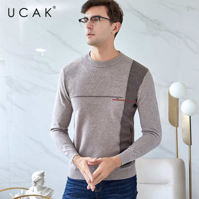 UCAK Brand Merino Wool Sweater Men 2019 New Arrival Autumn Winter Mens Sweaters Pull Homme Soft Warm Cashmere Pullover Men U3030