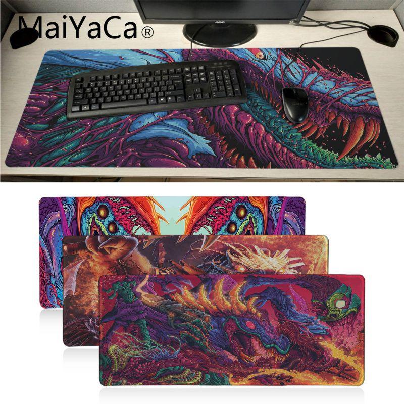 Maiyaca большое чудовище обои 4k CS GO большая игровая клавиатура Коврик XL настольный протектор Мягкий игровой коврик для мыши для планшетных ПК л...