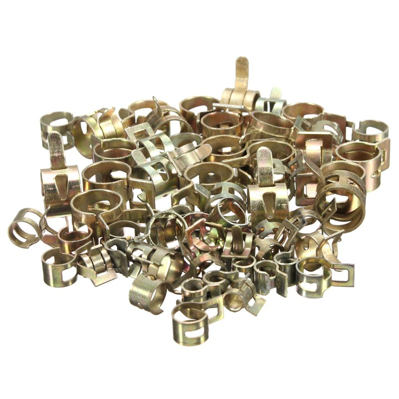 10Pcs Spring Clip Clamp Vacuum Fuel Hose Hose Clamp Line Pipe Fastener Steel Zinc Plated Clamps 6/7/8/9/10/11/12/13/14/15mm