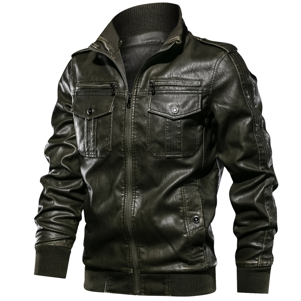 new Men Military Jacket Casual Army Fitness Leather Jackets