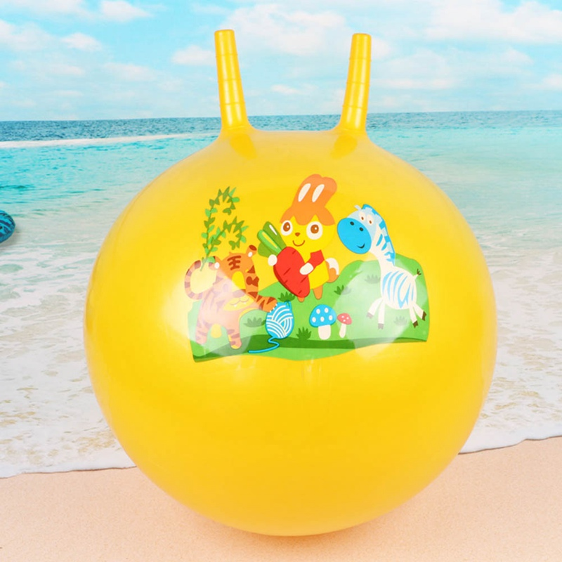 45cm PVC Inflatable Ball With 2 Handle Space Hopper Ball Jumping Bounce Ball For Kids Adults Outdoor Kindergarten Party Toys