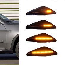 цена на Led Dynamic Side Marker Turn Signal Light Sequential Blinker Light Error Free For BMW X5 E70 X6 E71 E72 X3 F25 Amber 12V