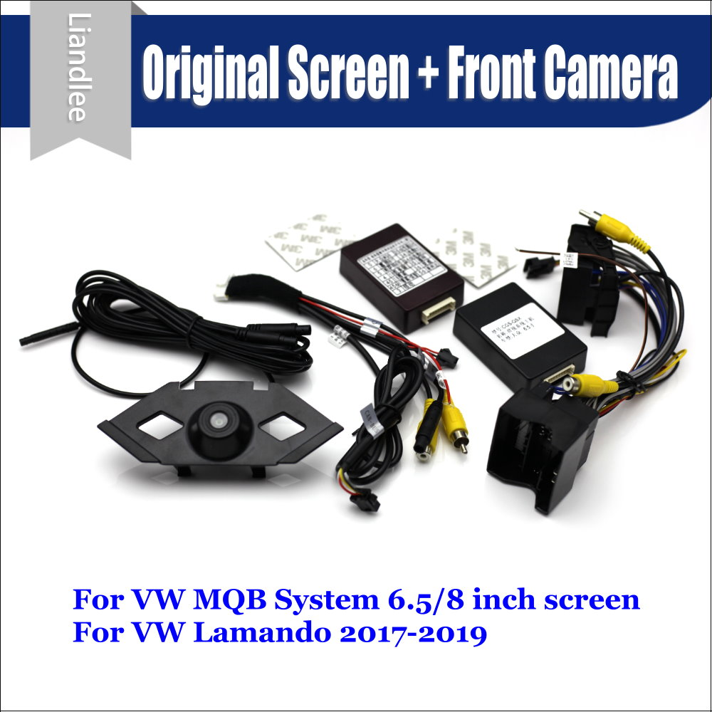 Car Front View camera System For Volkswagen VW Lamando 2017 2019 CANBUS Connect Original Factory Screen Monitor AUTO CAM Decoder in Vehicle Camera from Automobiles Motorcycles