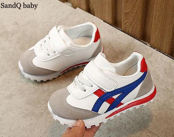 Des gamins baskets garçons chaussures filles formateurs Tennis chaussures décontracté Flexible mode pas cher usage quotidien enfant en bas âge course chaussure Sport SandQ