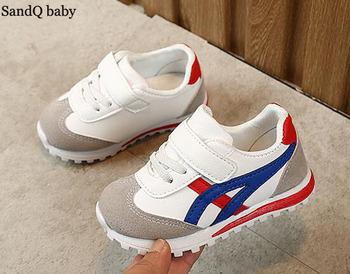 Dziecięce trampki buty dla chłopców dziewczęta trenerzy buty do tenisa na co dzień elastyczna moda tanie codzienne użytkowanie maluch buty do biegania Sport SandQ tanie i dobre opinie SANDQ BABY Pasuje prawda na wymiar weź swój normalny rozmiar 12 m 16 M 17 M 18 m 19 M 21 m 22 M 23 M 24 m 25 M 26 M 27 M