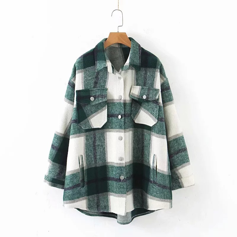 Had89e98f1d9e42a5b8cceaf5de178b2dd 2019 Autumn Winter Plaid Oversize Jackets Loose Causal Checker Streetwear Coat