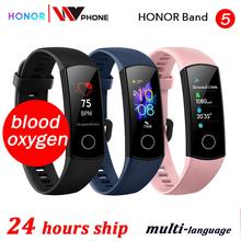 Кровяный кислород honor band 5 Смарт-браслет AMOLED Huawe honor умные часы пульсометр фитнес сон Плавание Спорт трекер