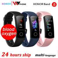 Di ossigeno nel sangue honor fascia 5 banda intelligente AMOLED Huawe honor smart watch frequenza cardiaca fitness sonno di nuoto sport tracker