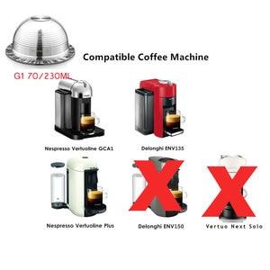 Image 2 - VIP קישור Nespresso Vertuo Vertuoline בתוספת GCA1 Delonghi ENV135 נירוסטה Refillable לשימוש חוזר כמוסה Pod