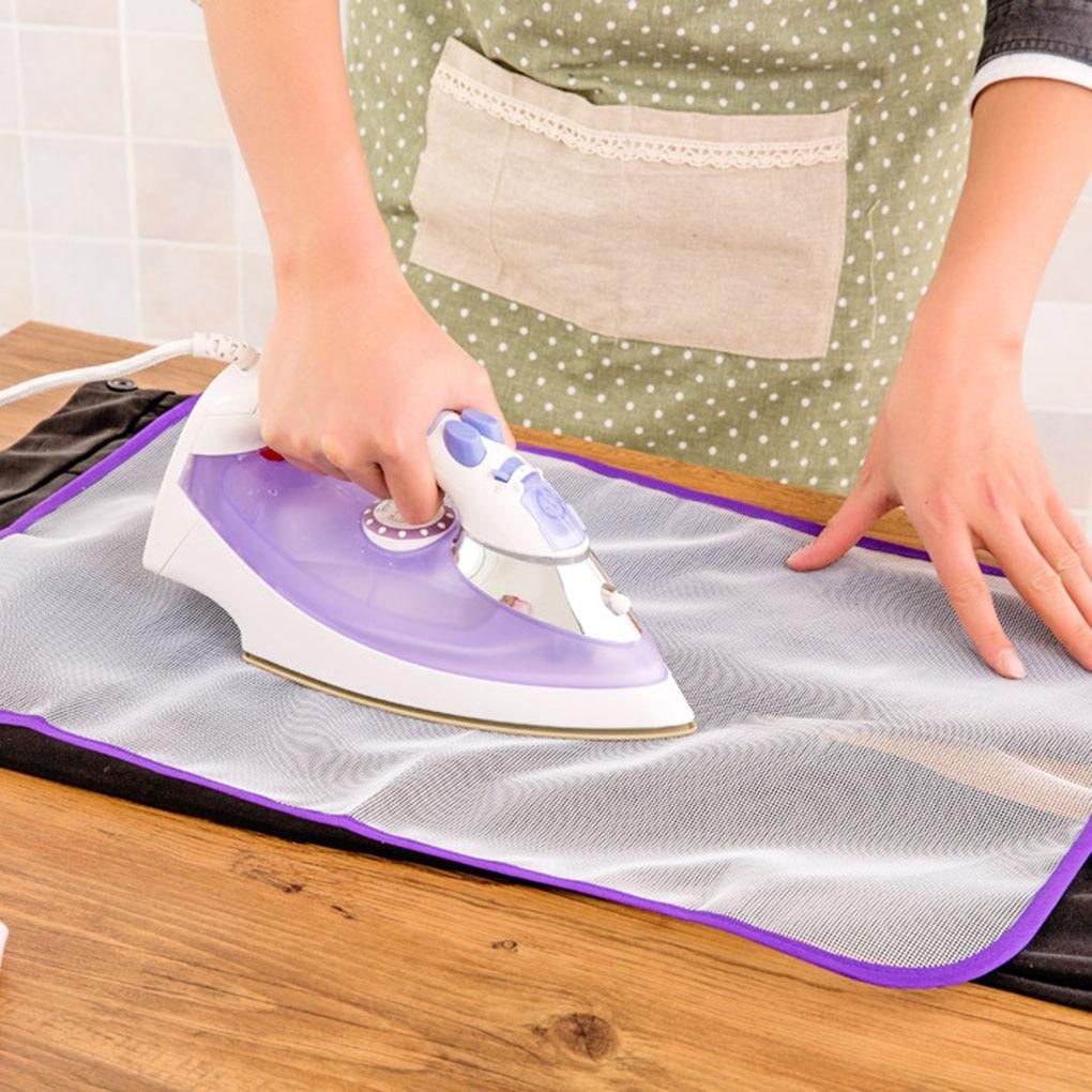 Ferro protetor da malha da imprensa da cobertura da placa de engomadoria para o protetor de pano de engomar protege a roupa delicada do vestuário 3 tamanhos cor aleatória