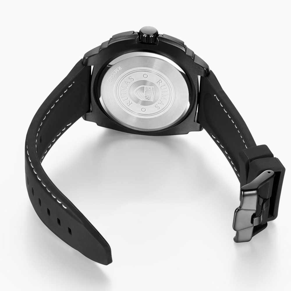 Ruimas Pria Fashion Olahraga Kuarsa Hublo Jam Tangan Atas Merek Big Dial Kreatif Silikon Tahan Air Clock Relogio Masculino